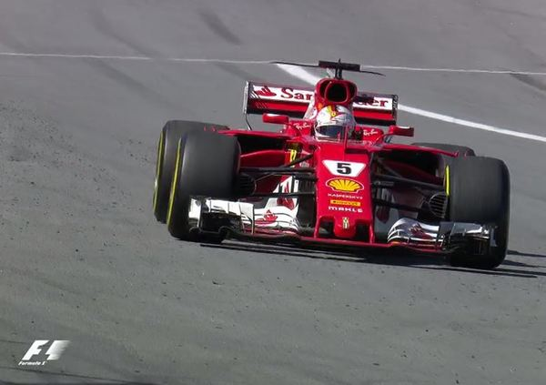 Vettel Ferrari Gana en gran forma #BrazilGP - Hamilton con carro superior no logra remontar ...