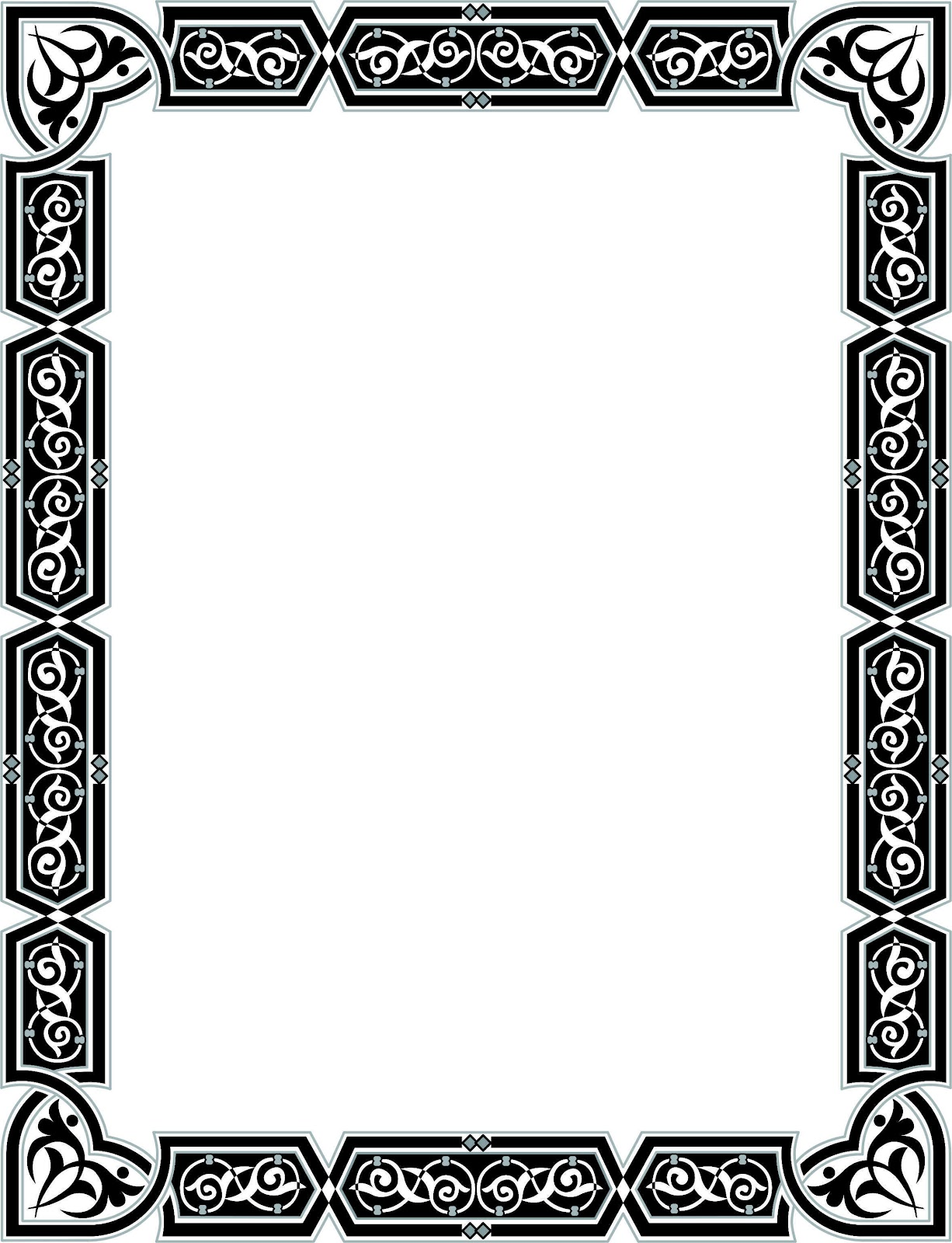 bingkai border piagam vector 6 banua sablon banua sablon