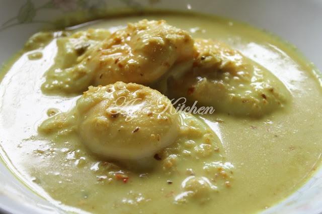 Gulai Telur Itik Cara Kelantan