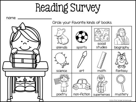 Classroom Freebies: Reading Surveys