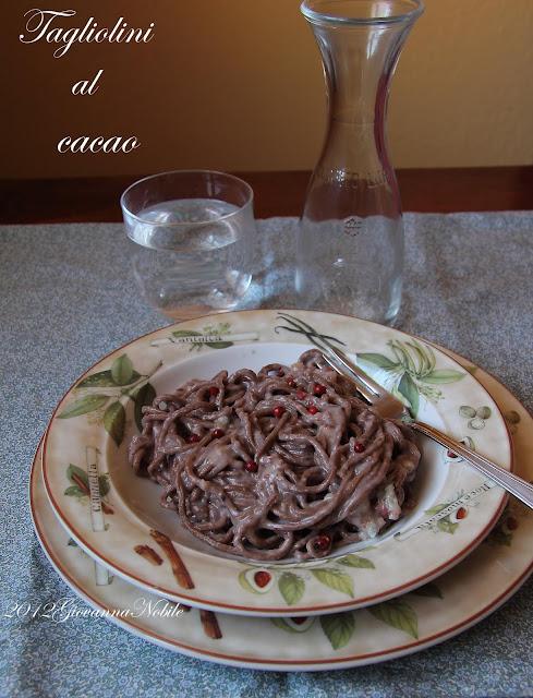 Tagliolini al cacao con crema di gorgonzola e marroni