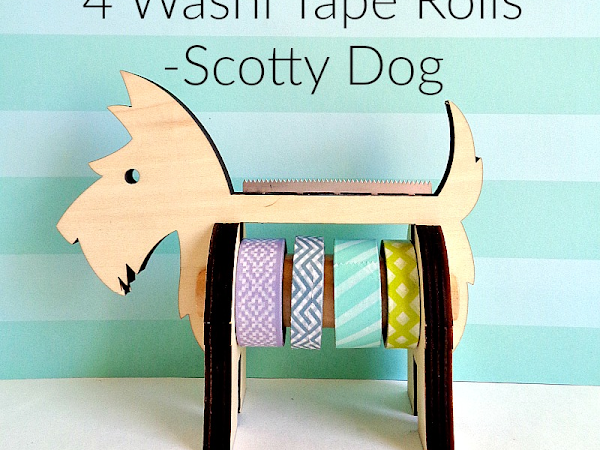 Mini Review: We R Memory Keepers Wooden Tape Dispenser With 4 Washi Tape Rolls - Scotty Dog