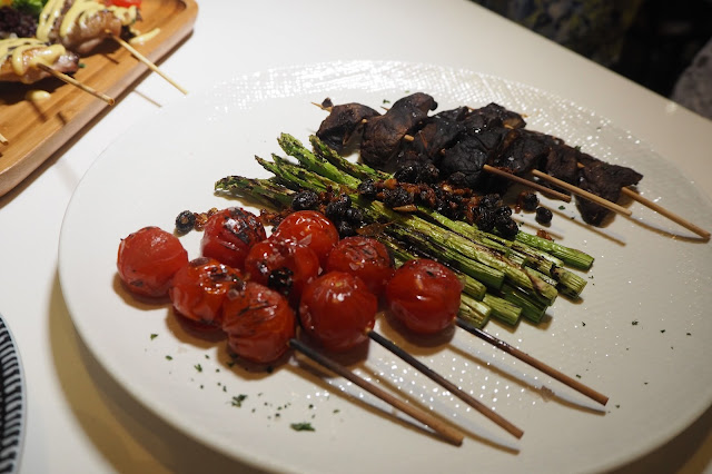 Shiitake — S$9  Asparagus— S$14 Vine Tomatoes— S$10 the quarters review