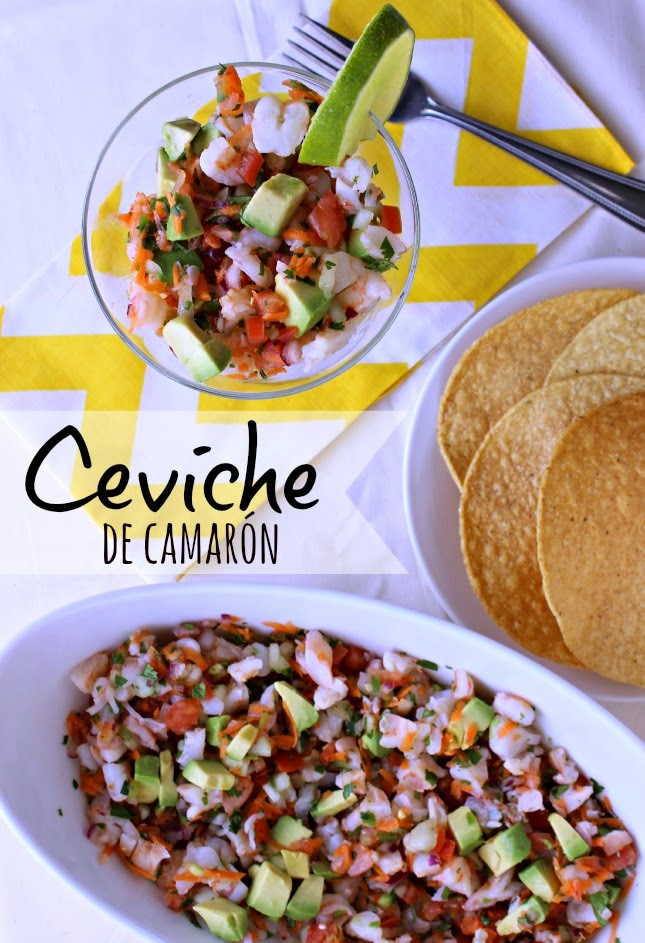 Ceviche de Camarón para los Viernes de Cuaresma by www.unamexicanaenusa.com