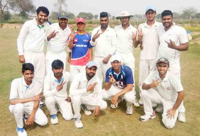 Aravali Cricket Academy defeats Kaushik Cricket Academy by 2 wickets