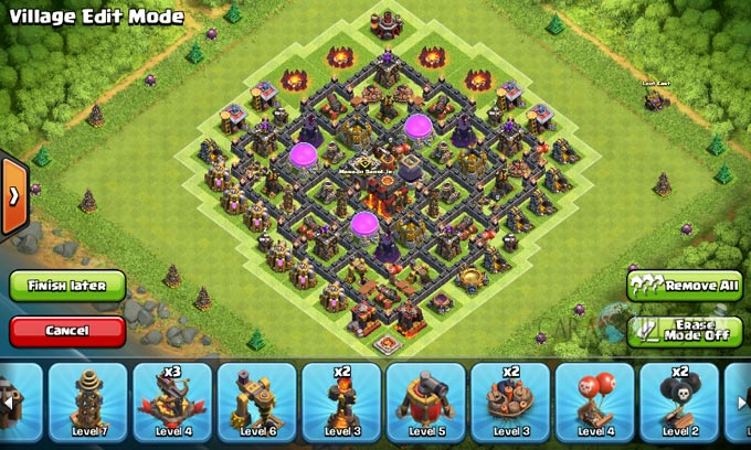 Susunan Formasi Base War TH 8 Update Terbaru 8