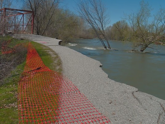 Area flooding damaging the Boise River banks!