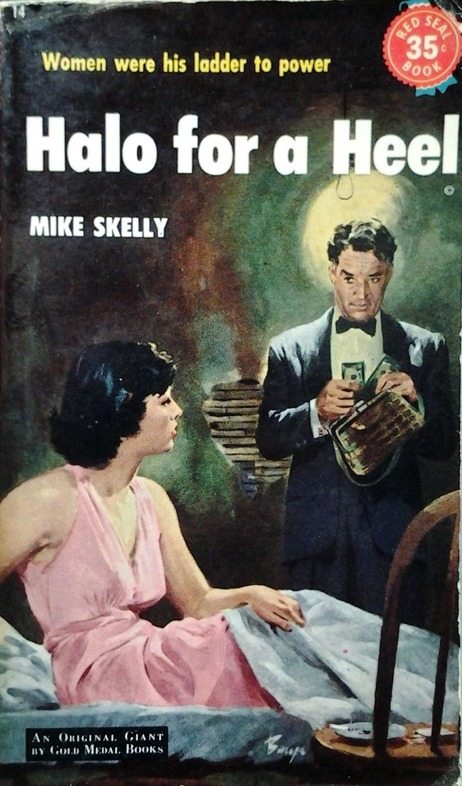 Halo for a Heel by Mike Shelly PB Red Seal 1952 35c cover
