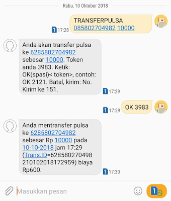 Cara Transfer Pulsa Indosat Ooredoo ke Indosat Ooredoo 17