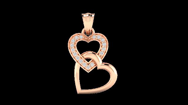 Riley Heart Diamond Pendant. Rs. 10,832-