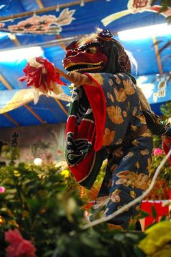 Shishimai (Lion Dance Festival) at Kitanokoya, Togane City, Chiba