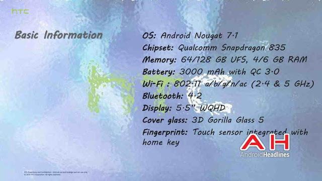 Detail Spesifikasi dan Fitur HTC U (Ocean)