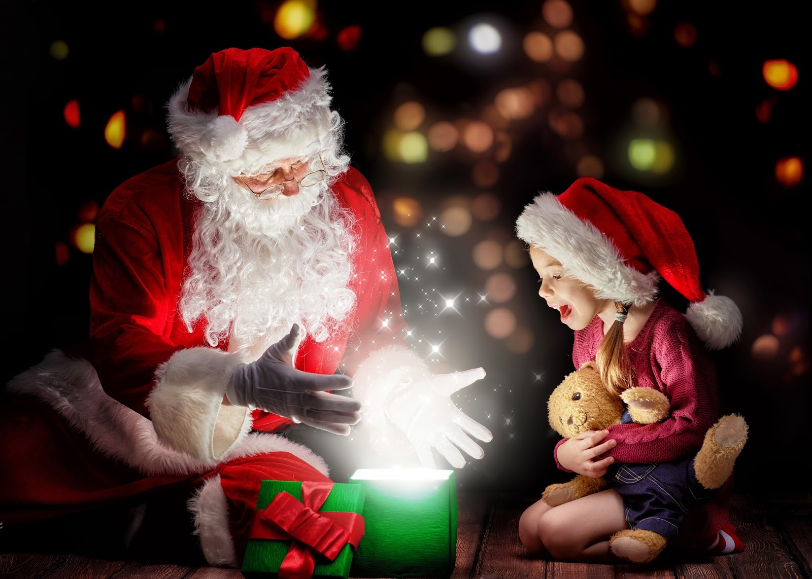 Kids emotions and excited for christmas surprise gifts hd
