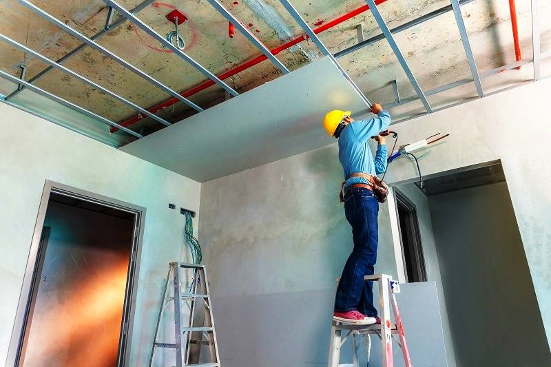 ukuran plafon baja ringan cara menghitung biaya pemasangan rumah langit