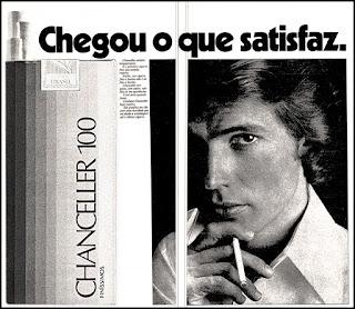 propaganda cigarros Chanceller - 1977; 1977. propaganda cigarros anos 70.  propaganda anos 70; história decada de 70; reclame anos 70.  Brazil in the 70s; Oswaldo Hernandez;