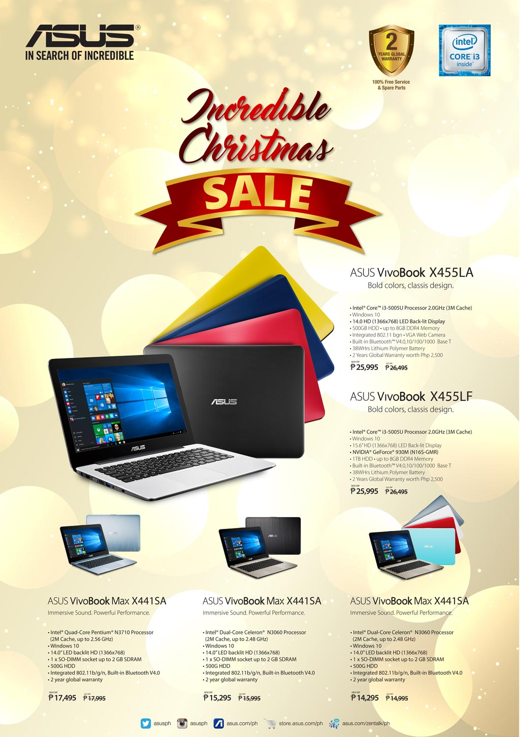 ASUS PH will have an Incredible Christmas Sale on its VivoBooks