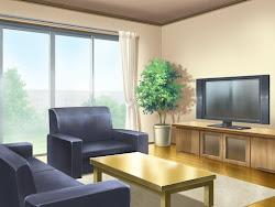 anime living background landscape