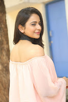 Rakul Preet Singh in lovely Pink Crop Top and Black Trousers at Jaya Janaki Nayaka success meet 021.JPG