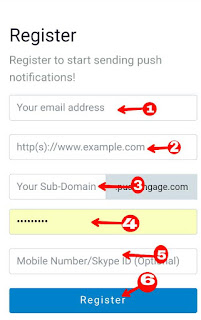 blogger blog me web push notifications service kaise enable kare