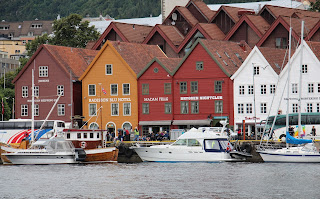 Bergen's historic Bryggen wharf. Photograph by Brian Quinn, Travel Writer