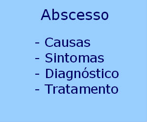 Abscesso causas sintomas diagnóstico tratamento