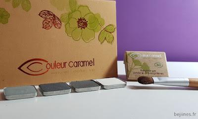 Palette Fard à paupières Couleur Caramel Make up Bio