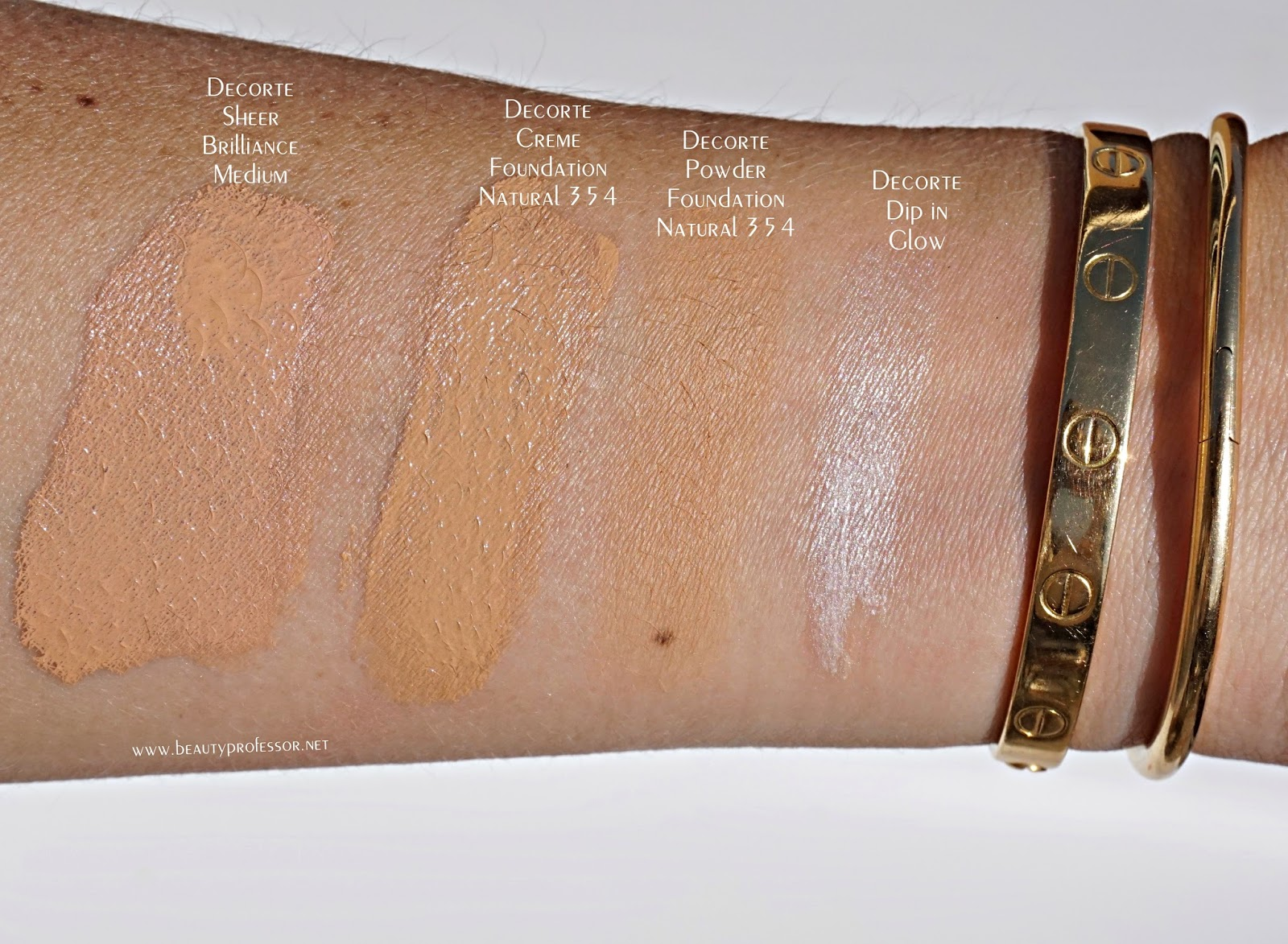 decorte makeup swatches