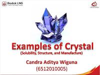 Contoh - Contoh Kristal (Kelarutan, Struktur, dan Pembuatannya)