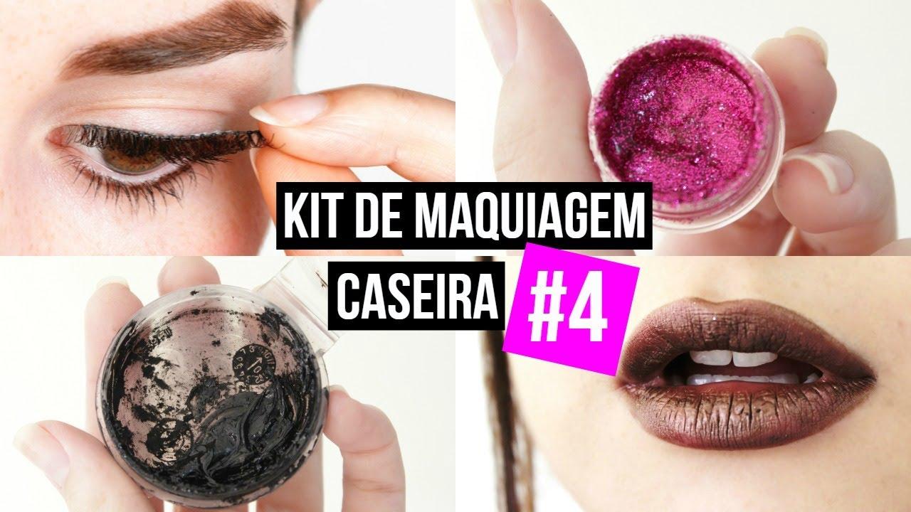 kit de maquiagem caseira, diy makeup