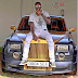 Emmanuel Adebayor shows off his customized Rolls Royce