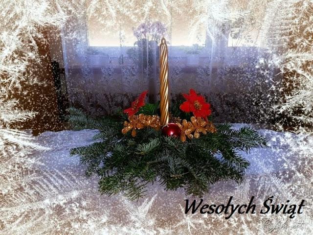 świecznik na świąteczny stół DIY
