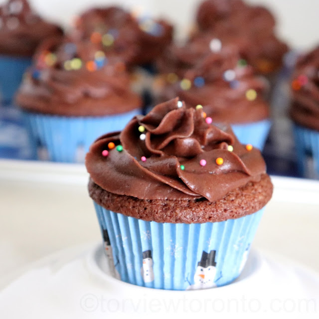 chocolate cupcake with chocolate buttercream icing