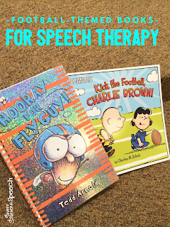 Great ideas for football themed books in speech therapy