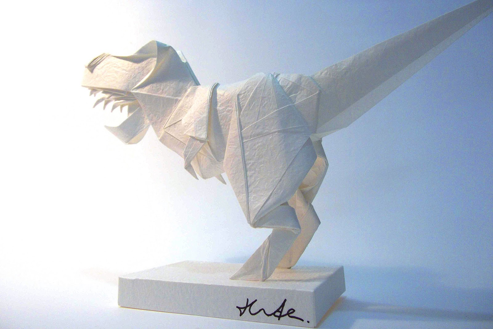 Origami Tyrannosaurus Rex | Design by Fumiaki Kawahata Fold … | Flickr | 1066x1600
