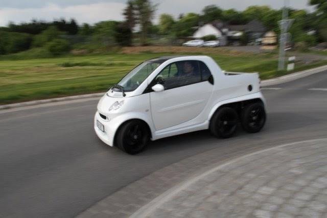 6-wheel Smart Fortwo 450 Pickup
