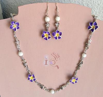 Conjunto-collar-pendientes-flores-Ideadoamano