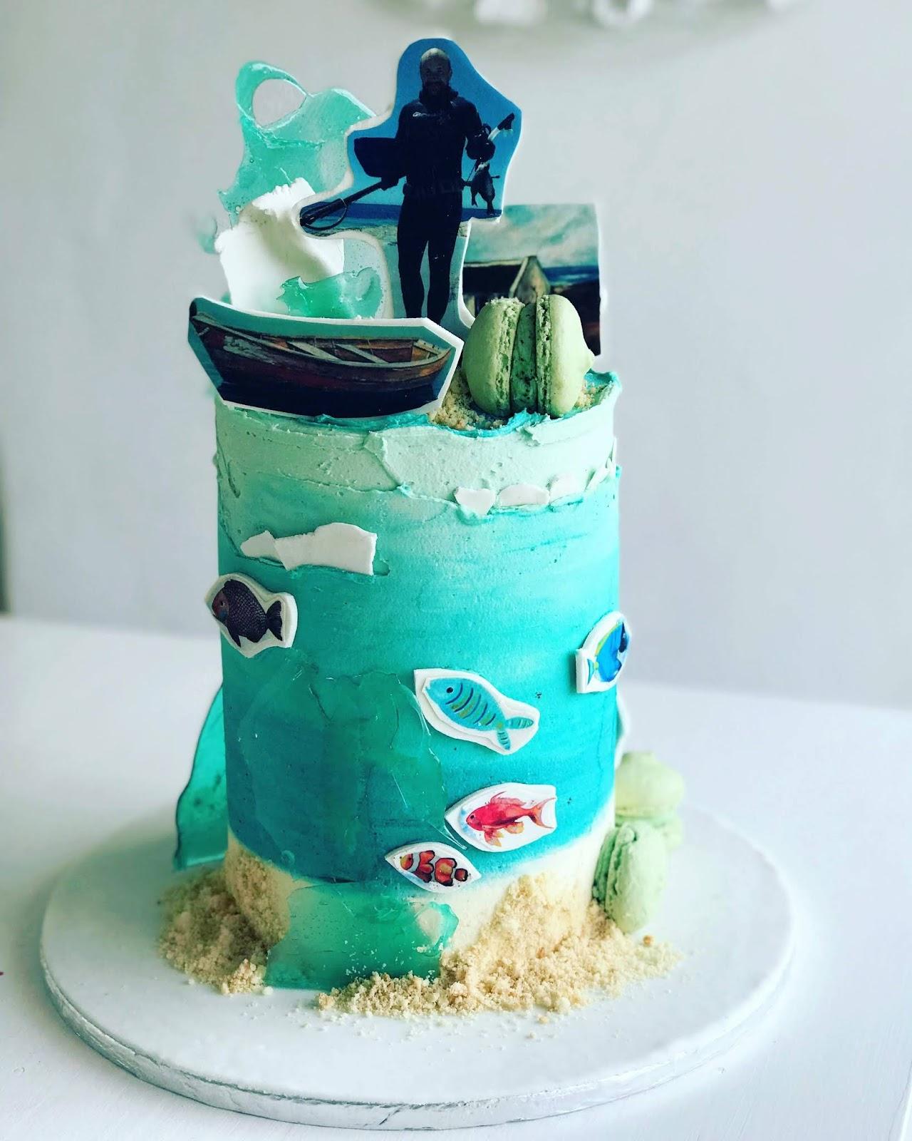 Sphere Fishing Ocean Crazy Cake R720