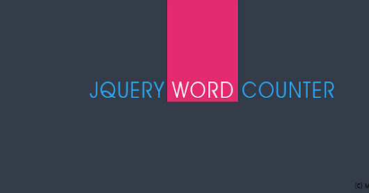 JQuery Word Counter