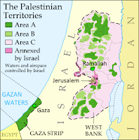 Map of the Palestinian Territories, now known in the official standard as