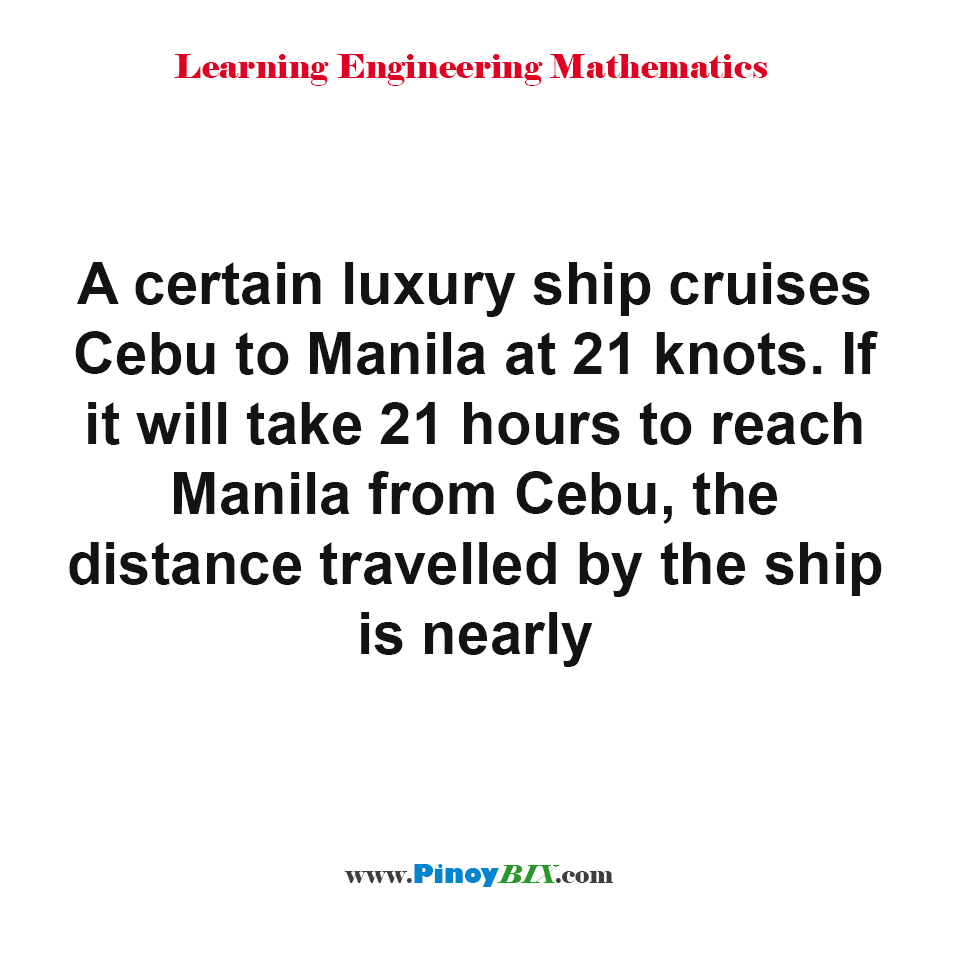 What is the distance travelled by the ship?
