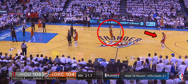 Adams and Westbrook Plan Intentional Missed Free Throw in Game 4 (VIDEO)