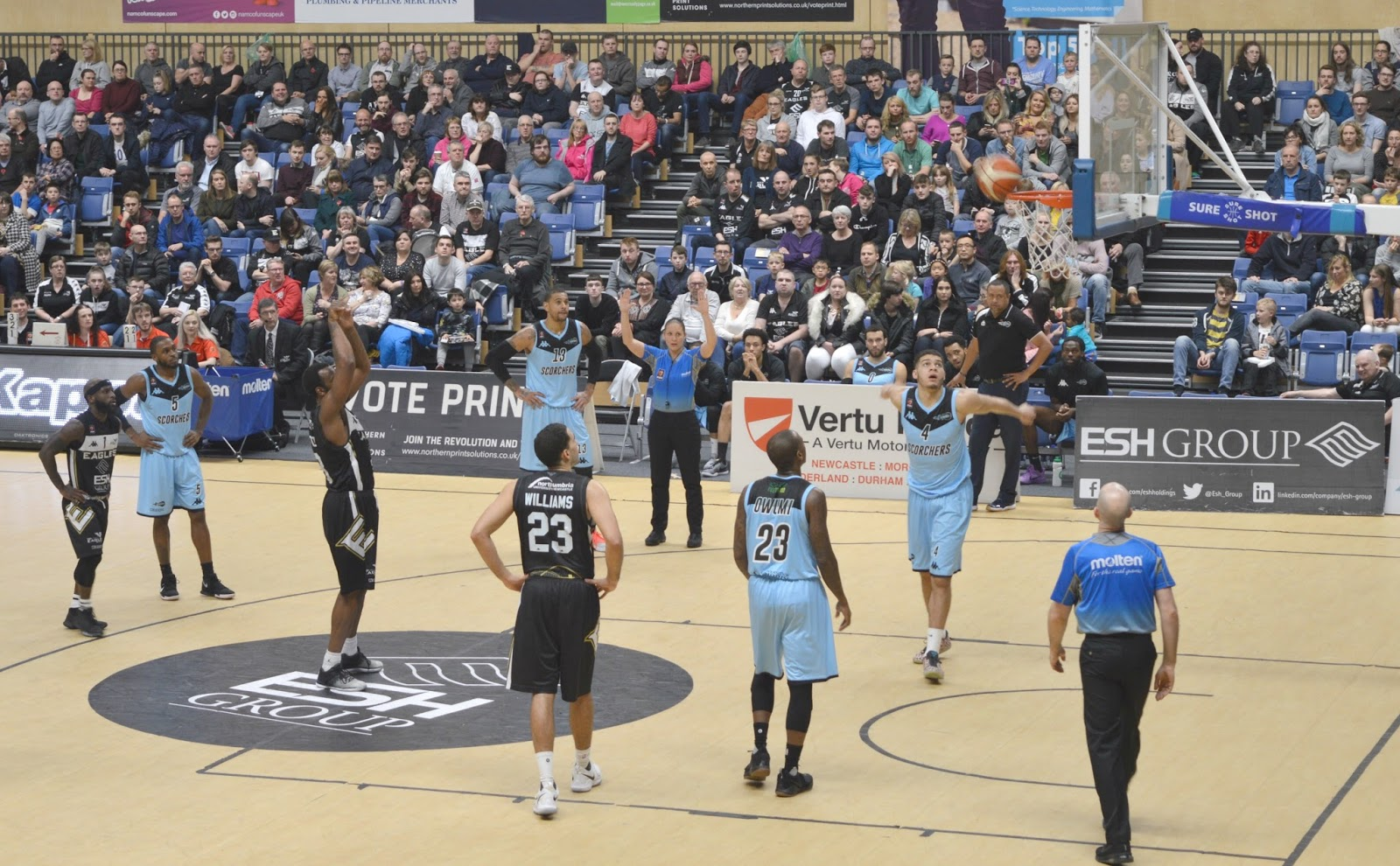 Date Night at Newcastle Eagles Basketball Game, Sport Central
