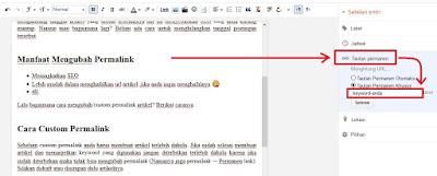 Cara Mengubah [Custom] Permalink Artikel Di Blogger