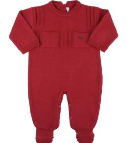 Macacão Vermelho para bebê na noite de natal