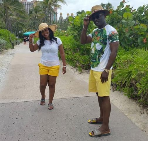 Dayo Adeneye and his wife cilling in Bahamas on vacation