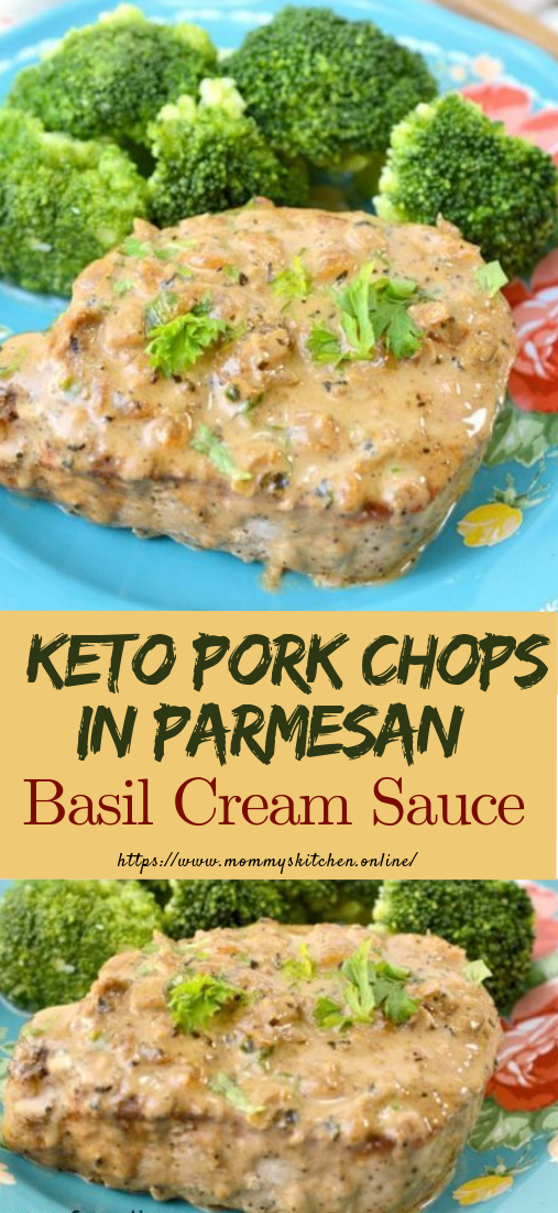 Keto Pork Chops in Parmesan Cream Sauce #ketorecipe #healthy