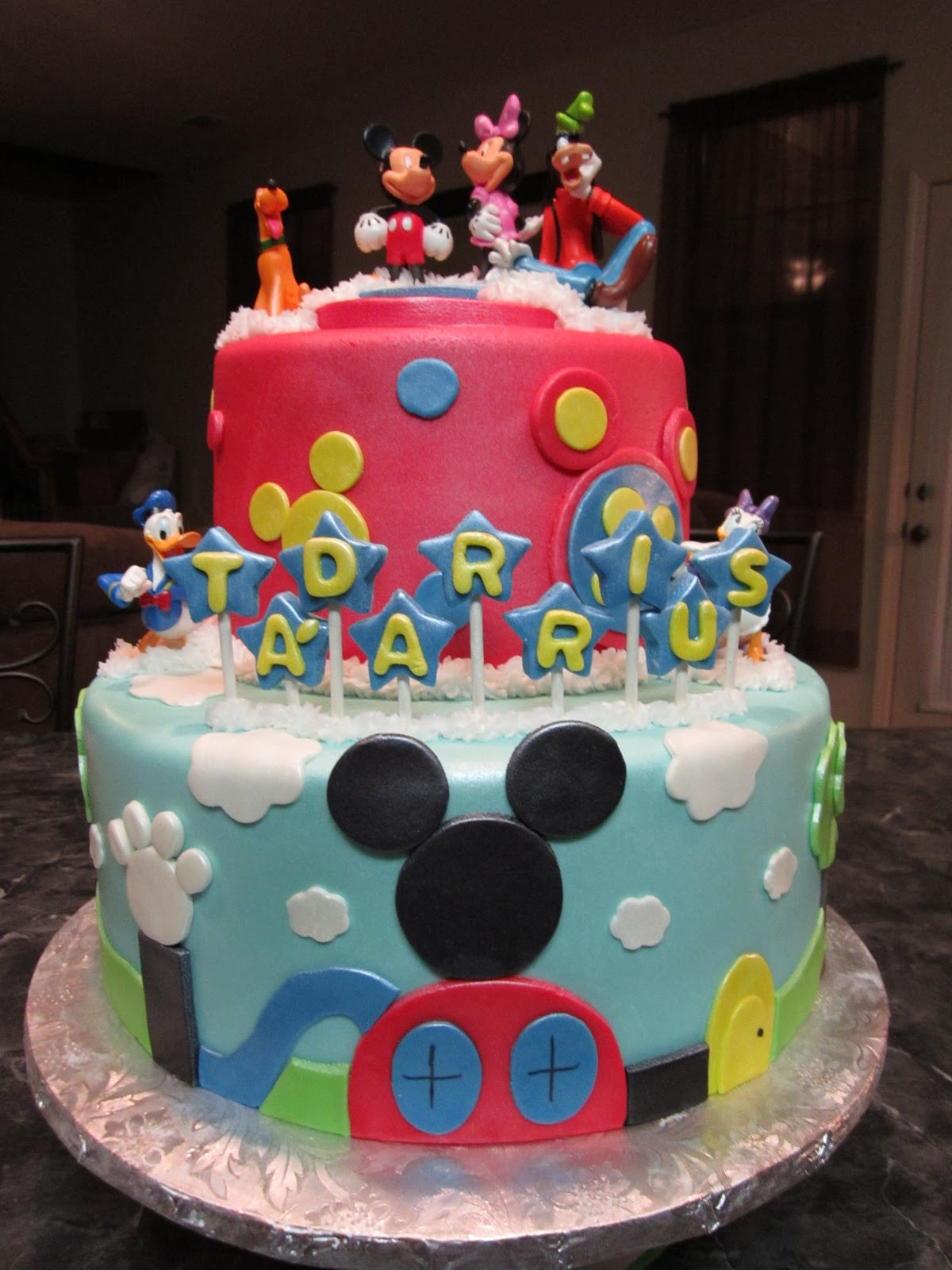 Mymonicakes Tiered Mickey Mouse Clubhouse Cake With Smash