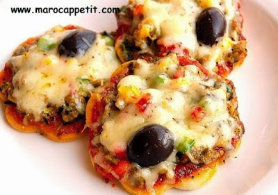 Mini-pizzas au thon | Mini pizzas with tuna