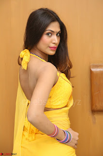 Nishigandha in Yellow backless Strapless Choli and Half Saree Spicy Pics 157.JPG