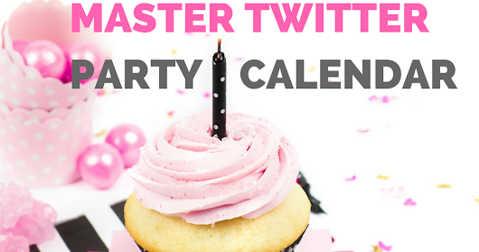 Twitter Party Calendar With Prizes Twitter Parties July 8-14 Multiple Updates Daily